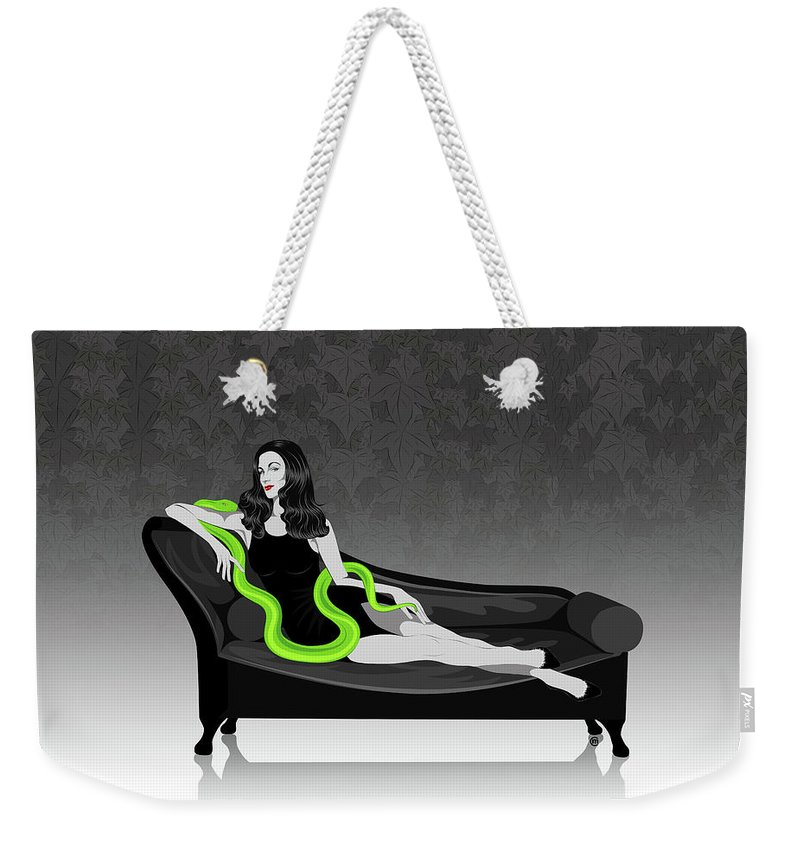 Deadly Sins Weekender Tote Bag featuring the digital art Envy by Carolina Matthes