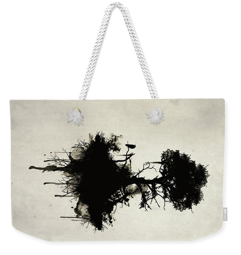Nature Weekender Tote Bag featuring the painting Last Tree Standing by Nicklas Gustafsson