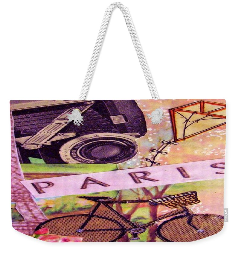 Paris Weekender Tote Bag featuring the drawing Paris by Eloise Schneider Mote