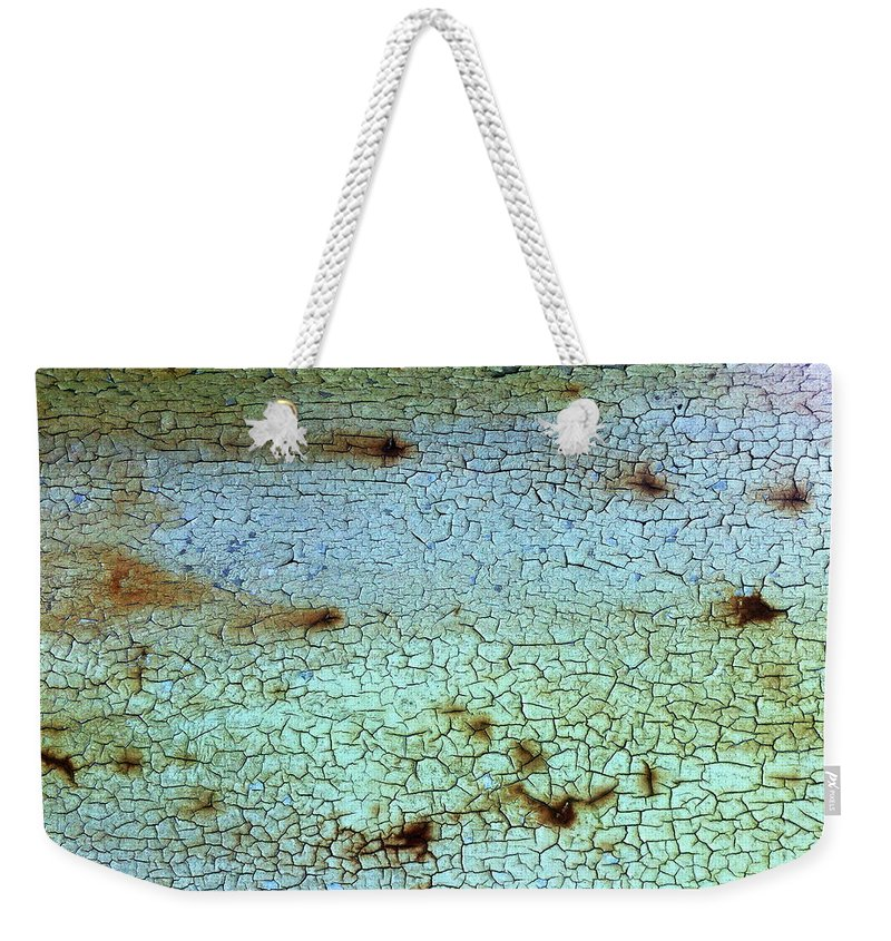 Cracked Weekender Tote Bag featuring the photograph Crackled Case by Nicklas Gustafsson