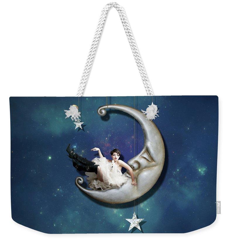 Moon Digital Art Weekender Tote Bags