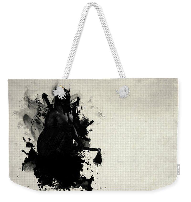 Viking Weekender Tote Bag featuring the digital art Viking by Nicklas Gustafsson