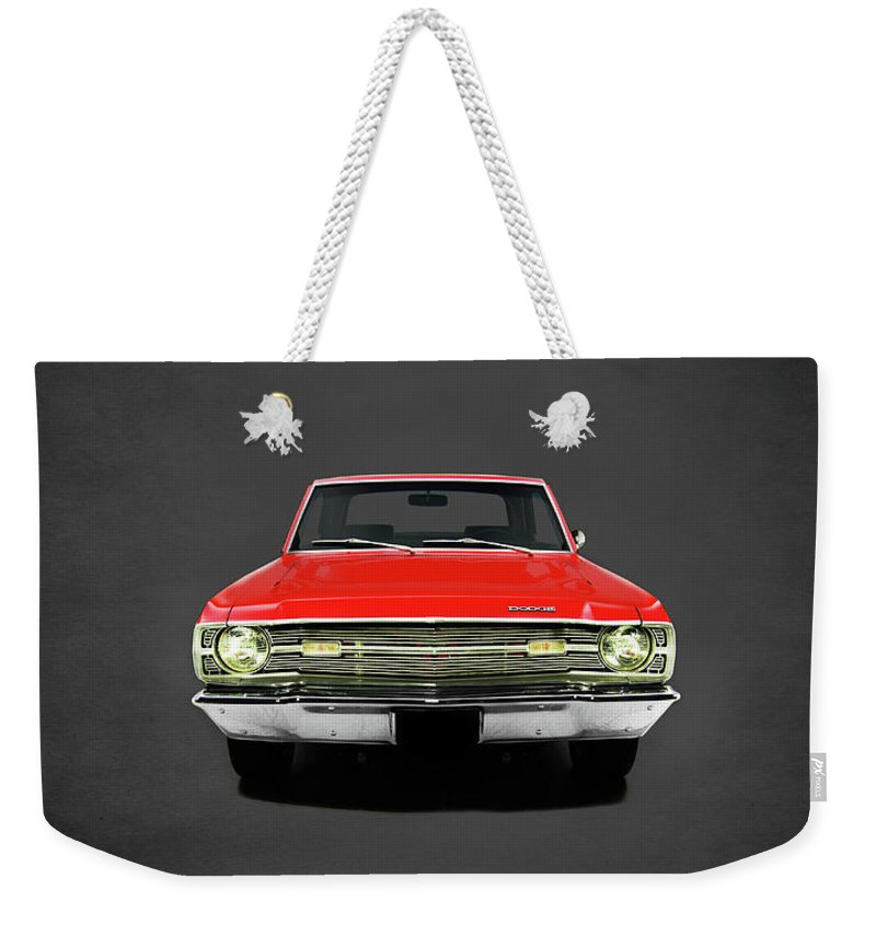 Dodge Dart 340 Weekender Tote Bag featuring the photograph Dodge Dart 340 by Mark Rogan