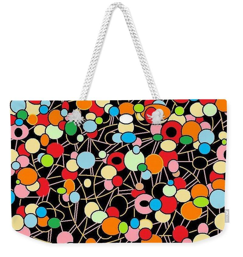 Digital Art Weekender Tote Bag featuring the digital art Arty by Jordana Sands
