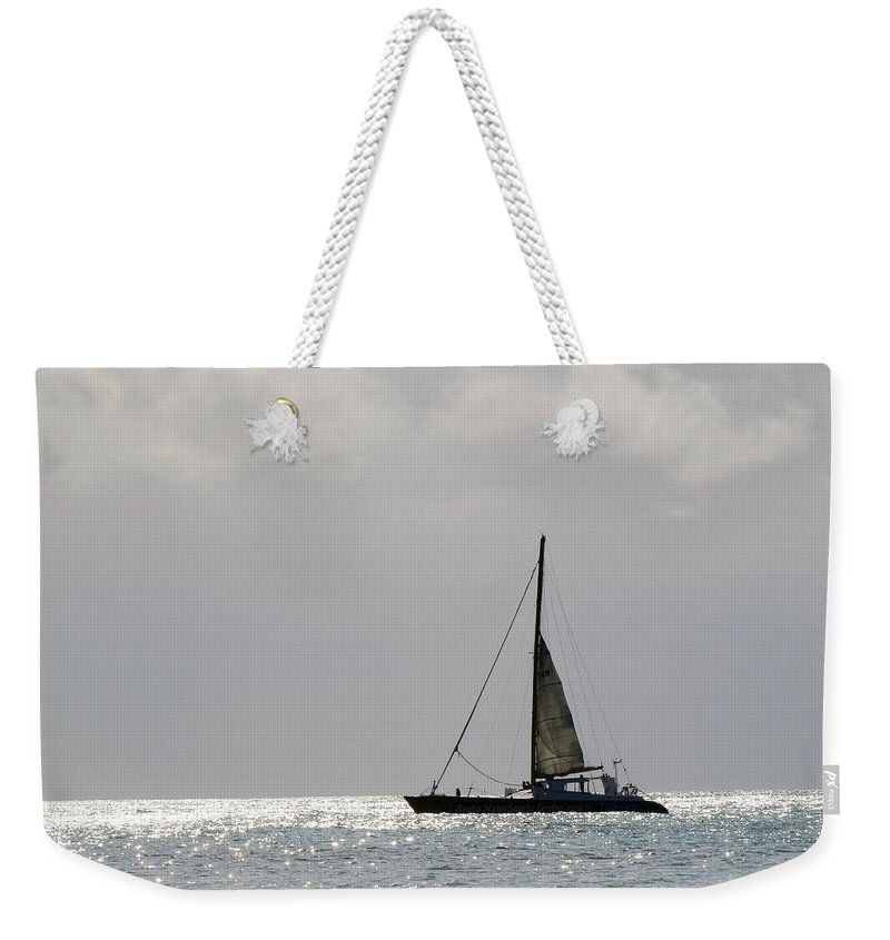 Sea Weekender Tote Bag featuring the photograph Aruba 2017, 3 by Sandra Bourret