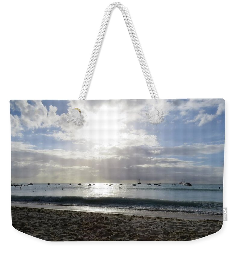 Sea Weekender Tote Bag featuring the photograph Aruba 2017, 4 by Sandra Bourret