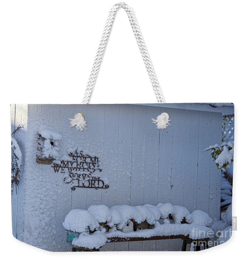 Winter Weekender Tote Bag featuring the photograph As For Me And My House by David Arment