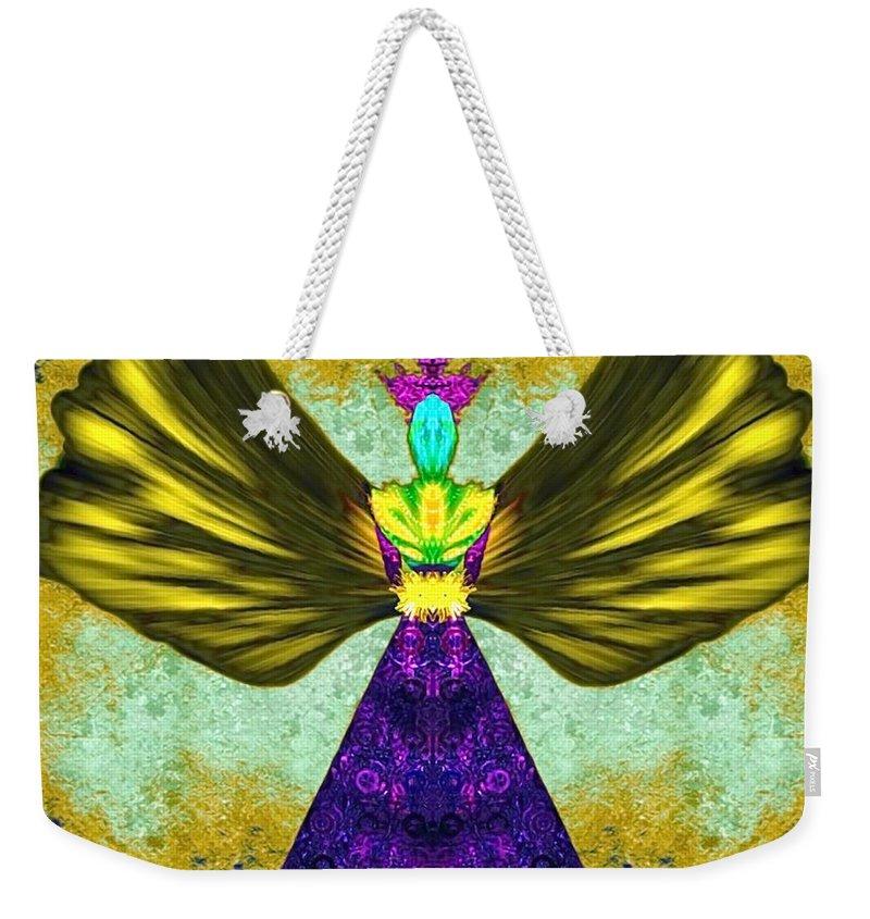 Angel Weekender Tote Bag featuring the digital art Asariel by Raymel Garcia