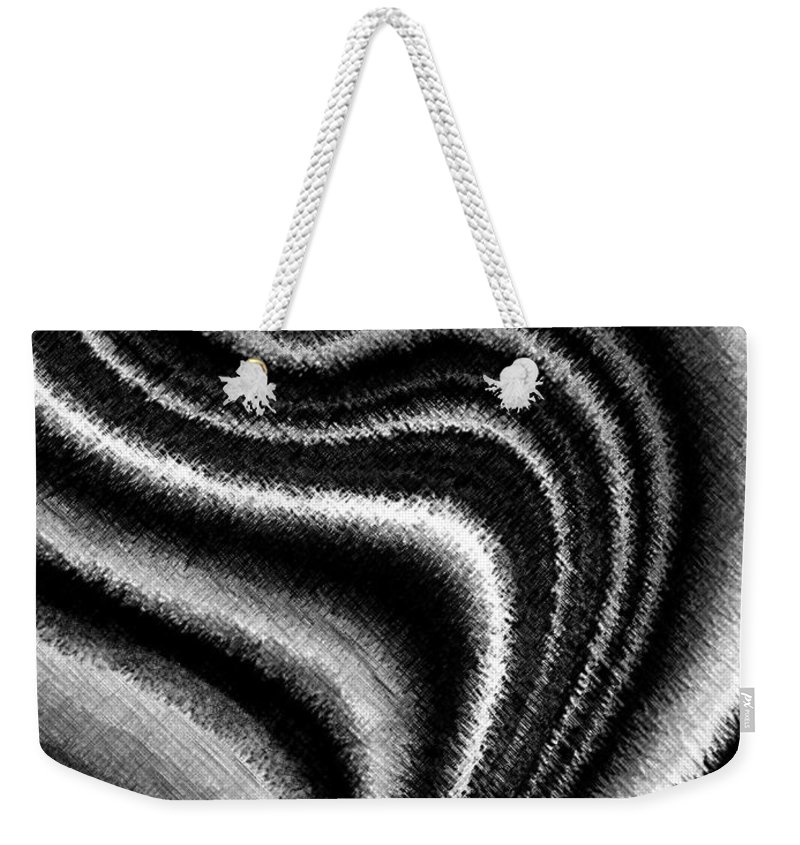 Black & White Weekender Tote Bag featuring the digital art Ascending by Will Borden