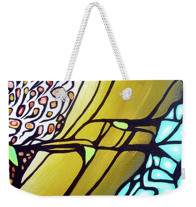 Color Weekender Tote Bag featuring the painting Ascension by Larry Calabrese