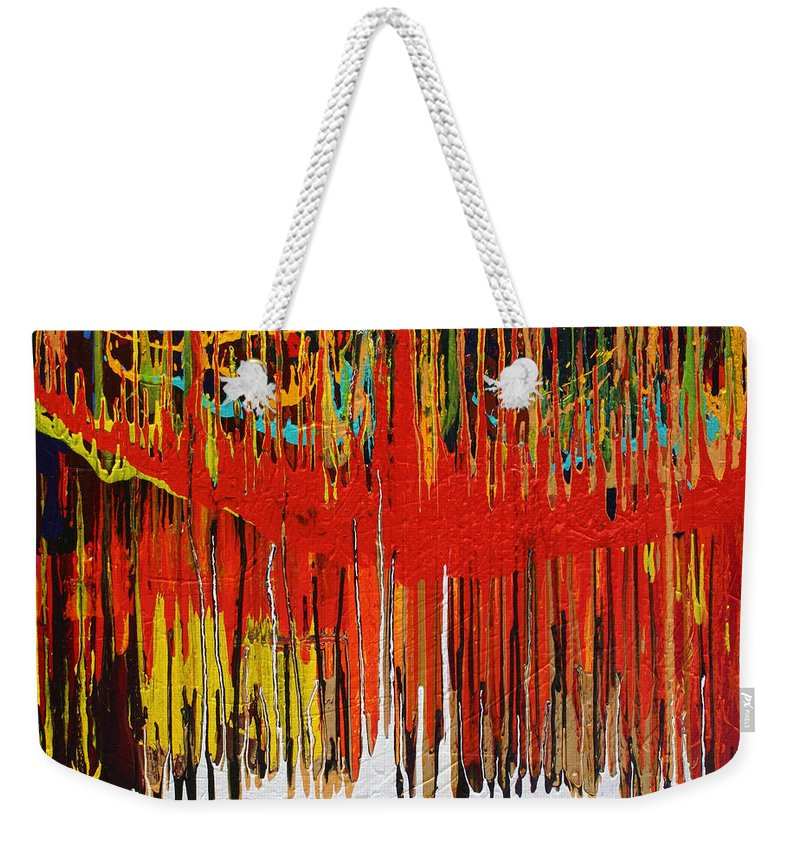 Fusionart Weekender Tote Bag featuring the painting Ascension by Ralph White