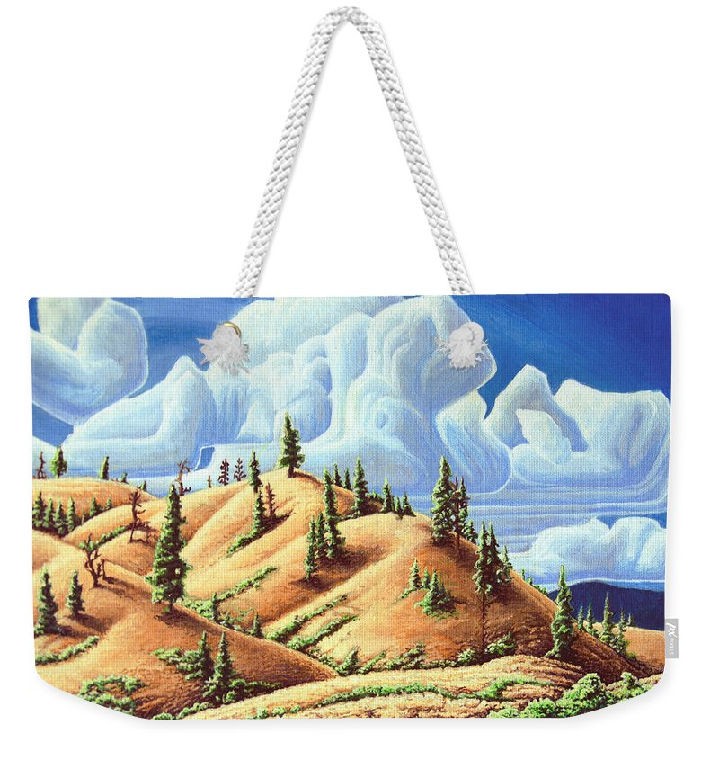 Ashcroft Weekender Tote Bag featuring the painting Ashcroft Landscape by Robert Davies