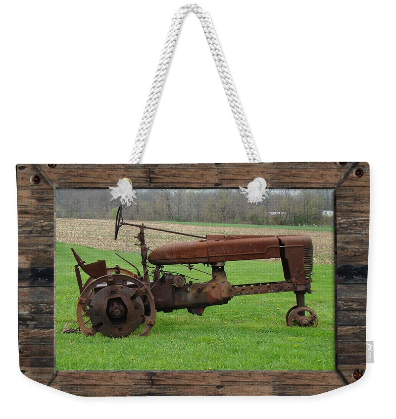 Tractor Weekender Tote Bag featuring the photograph Ashes To Ashes - Rust To Rust by Mother Nature