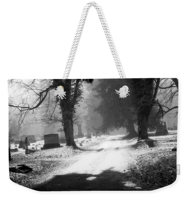 Photograph Weekender Tote Bag featuring the photograph Ashland Cemetery by Jean Macaluso