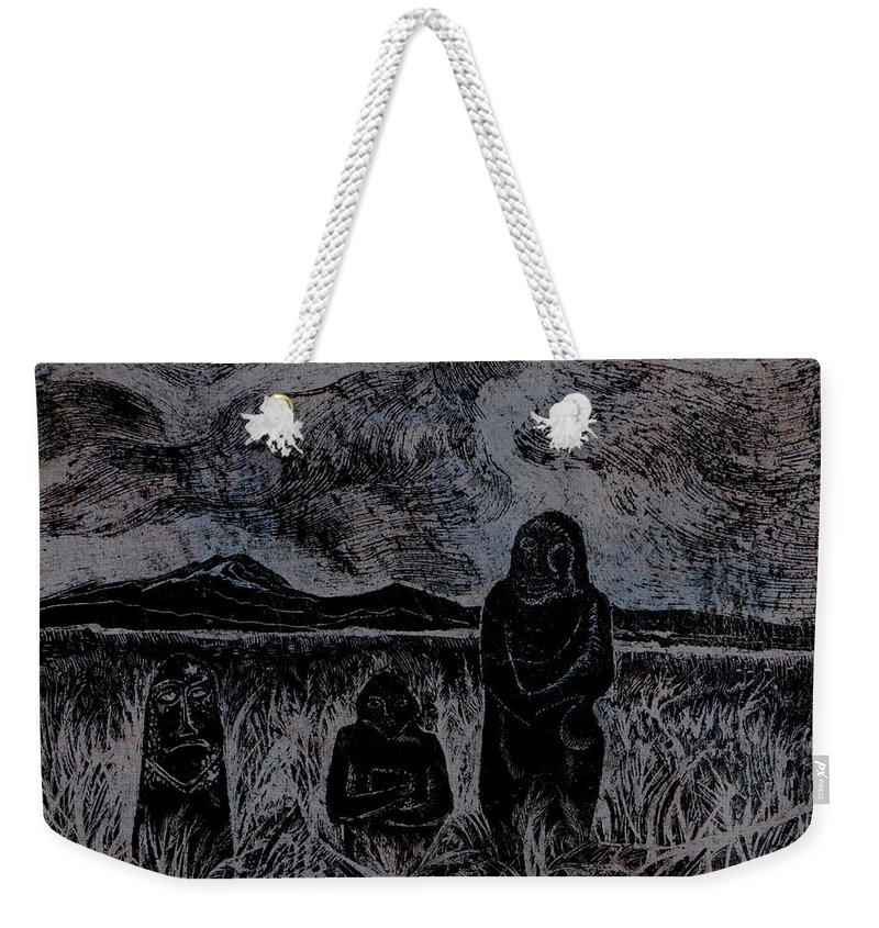 Graphica Weekender Tote Bag featuring the drawing Asia.gone With The Wind by Anna Duyunova