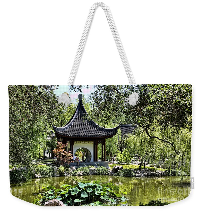 Cactus Weekender Tote Bag featuring the photograph Asian Charm by Chuck Kuhn
