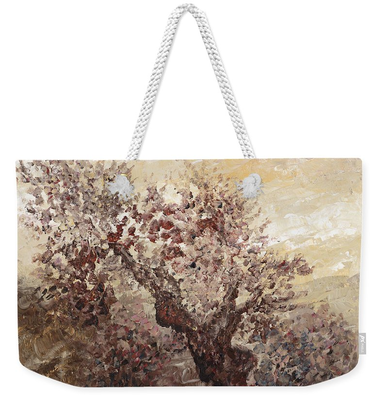 Landscape Weekender Tote Bag featuring the painting Asian Mist by Nadine Rippelmeyer