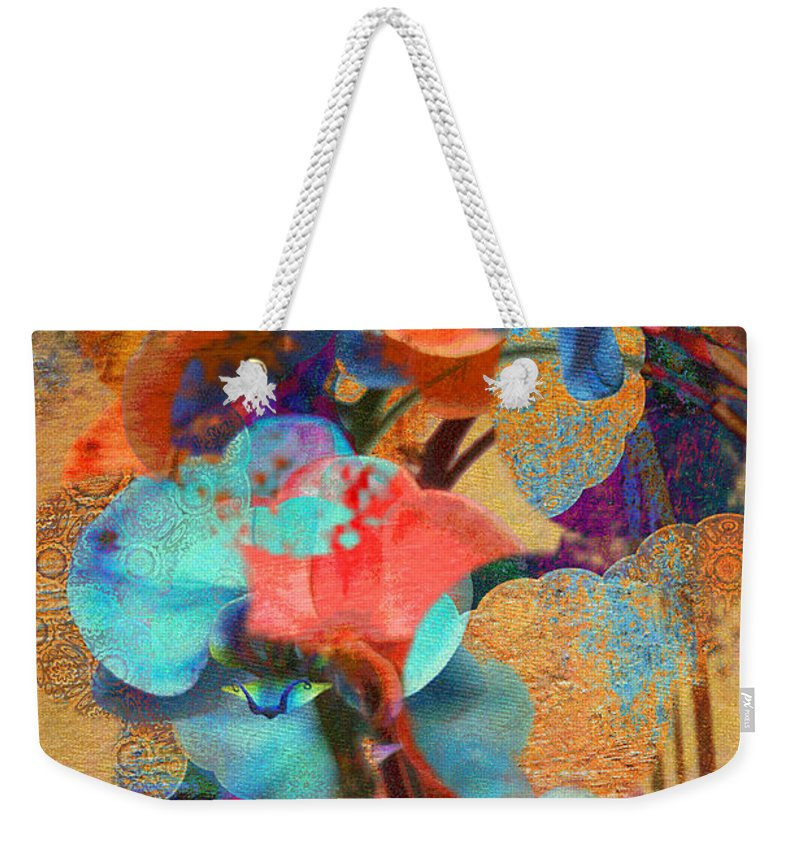 Orchid Abstract Weekender Tote Bag featuring the photograph Asian Orchid Abstract by Suzanne Powers