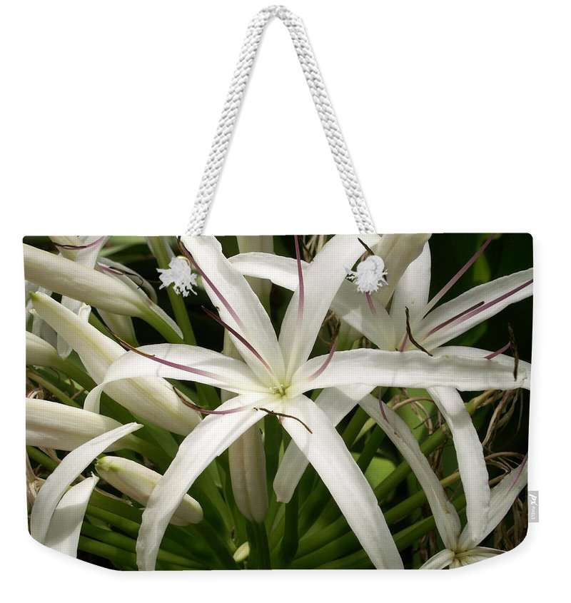 Flower Weekender Tote Bag featuring the photograph Asiatic Poison Lily by Amy Fose