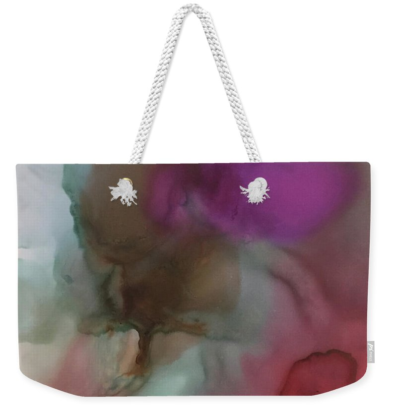 Abstract Weekender Tote Bag featuring the painting Asleep In The Deep by Jonny Troisi