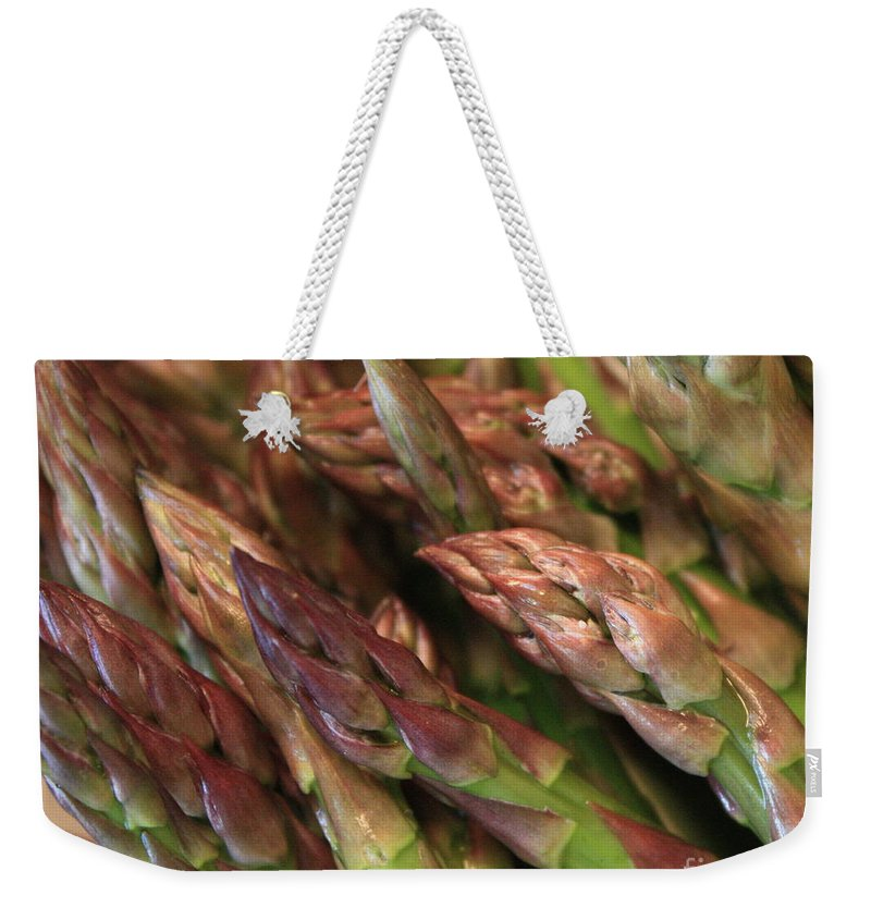 Asparagus Weekender Tote Bag featuring the photograph Asparagus Tips by Carol Groenen