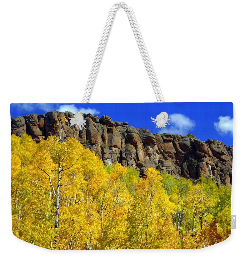 Fall Colors Weekender Tote Bag featuring the photograph Aspen Glory by Marty Koch