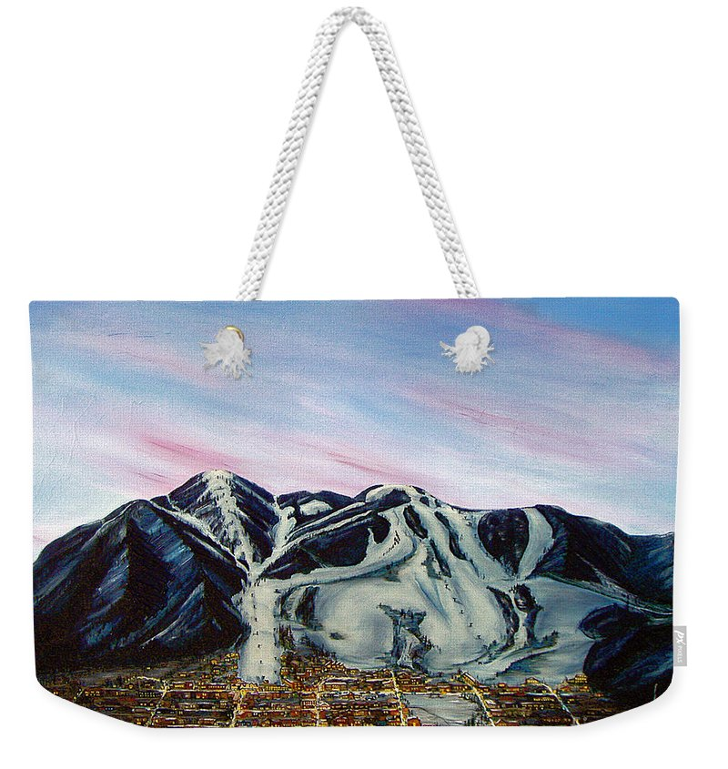 Aspen Weekender Tote Bag featuring the painting Aspen by Jerome Stumphauzer
