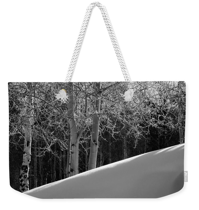 Colorado Weekender Tote Bag featuring the photograph Aspencade by Skip Hunt
