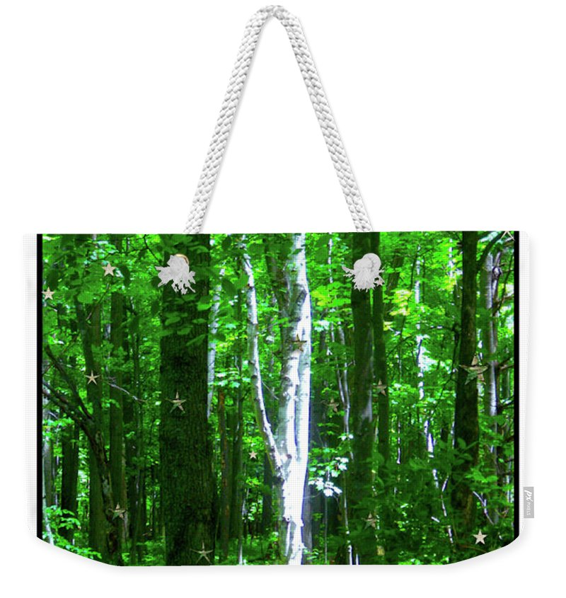 The Chanticleer B&b Weekender Tote Bag featuring the photograph Aspens At The Chanticleer by Dianne Lynn Benanti