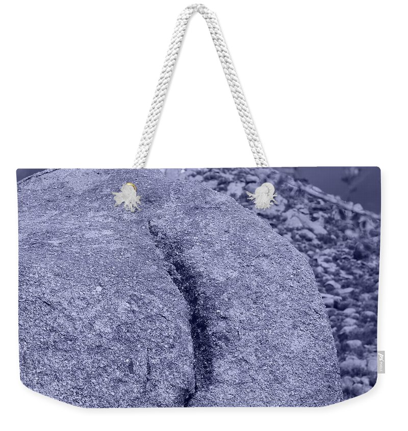 Pop Art Weekender Tote Bag featuring the photograph Ass Crack New Mexico In Cyan by Rob Hans