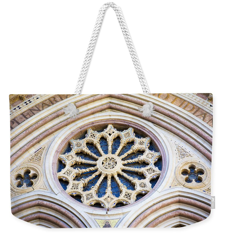 Church Weekender Tote Bag featuring the photograph Assisi Plenaria Design by Marilyn Hunt