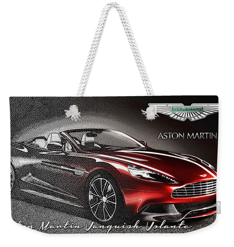�wheels Of Fortune� Collection By Serge Averbukh Weekender Tote Bag featuring the photograph Aston Martin Vanquish Volante by Serge Averbukh