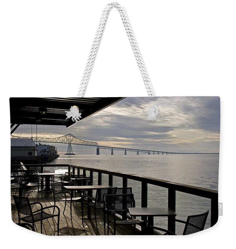 Scenic Weekender Tote Bag featuring the photograph Astoria by Lee Santa