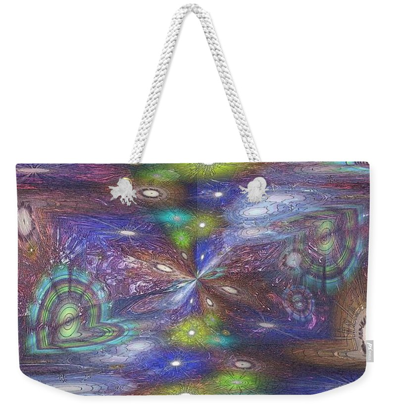 Abstract Weekender Tote Bag featuring the digital art Astral Anomaly by Tim Allen