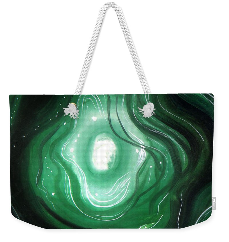 Sadness Weekender Tote Bag featuring the painting Astral Vision. When Sadness Goes Away by Sofia Metal Queen