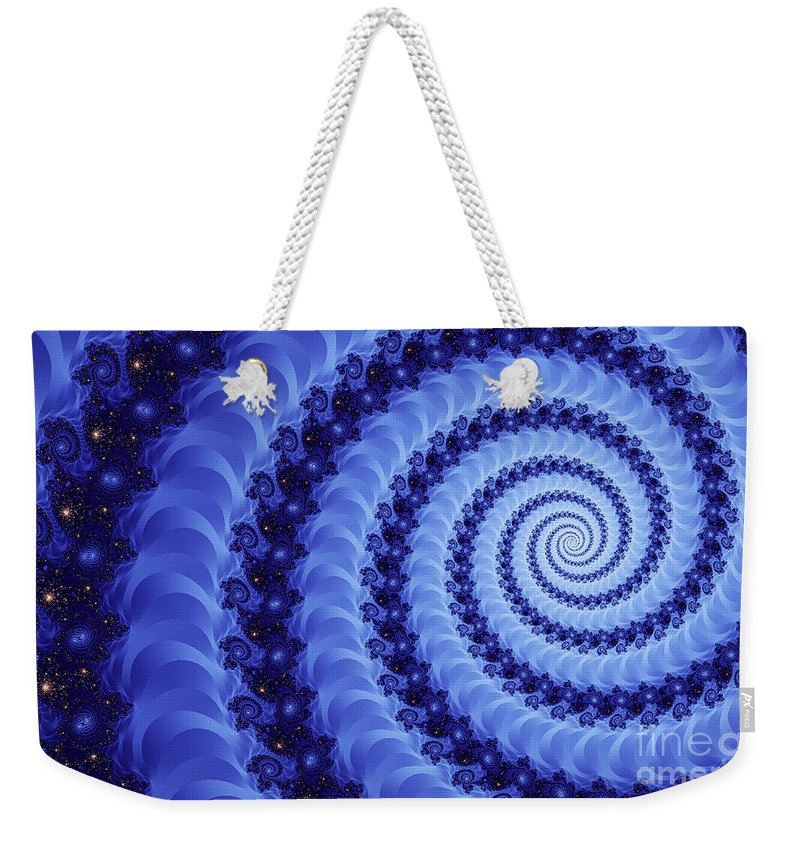 Clay Weekender Tote Bag featuring the digital art Astral Vortex by Clayton Bruster