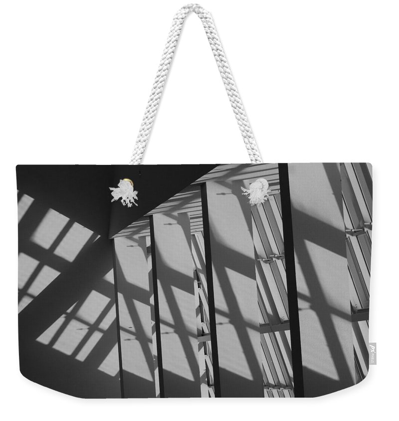 Shades Weekender Tote Bag featuring the photograph Asylum Windows by Rob Hans
