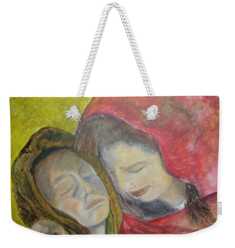 New Artist Weekender Tote Bag featuring the painting At Last They Sleep by J Bauer