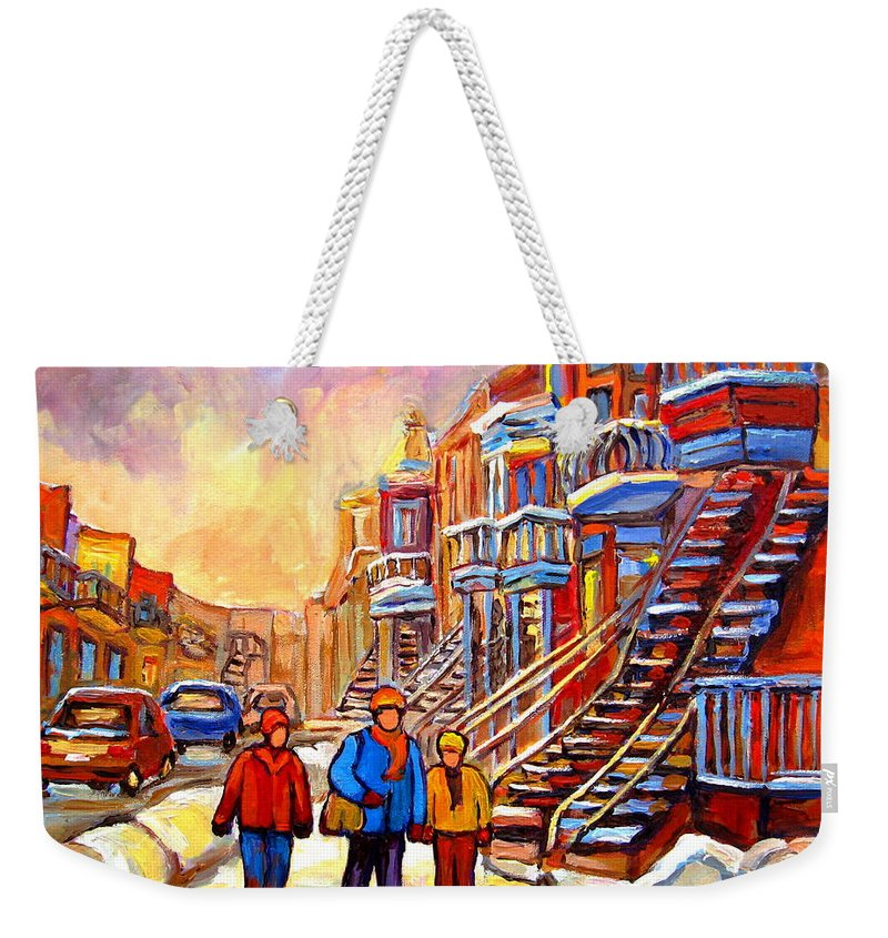 At The End Of The Day Weekender Tote Bag featuring the painting At The End Of The Day by Carole Spandau