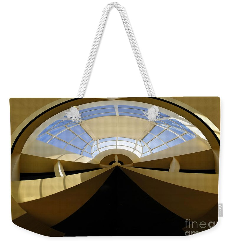 Art Weekender Tote Bag featuring the painting At The End Of The Tunnel by David Lee Thompson