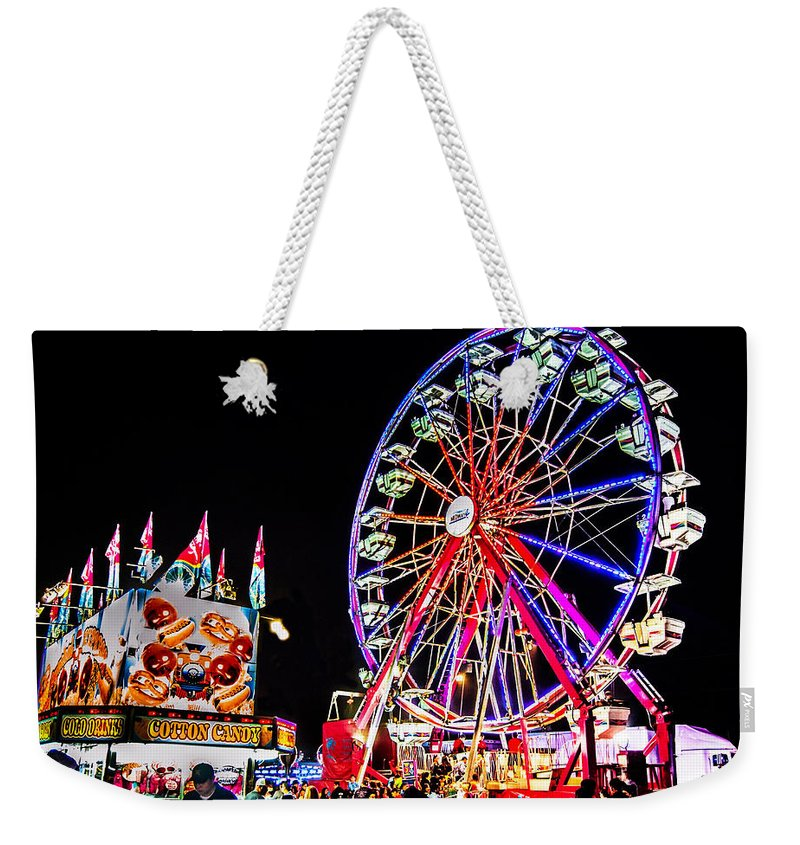 Blue Weekender Tote Bag featuring the photograph At The Fair by Leticia Latocki