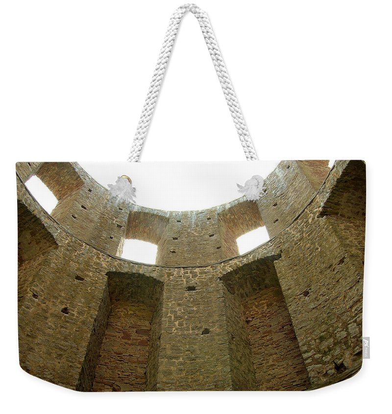 Tower Weekender Tote Bag featuring the photograph At The Inside by Are Lund