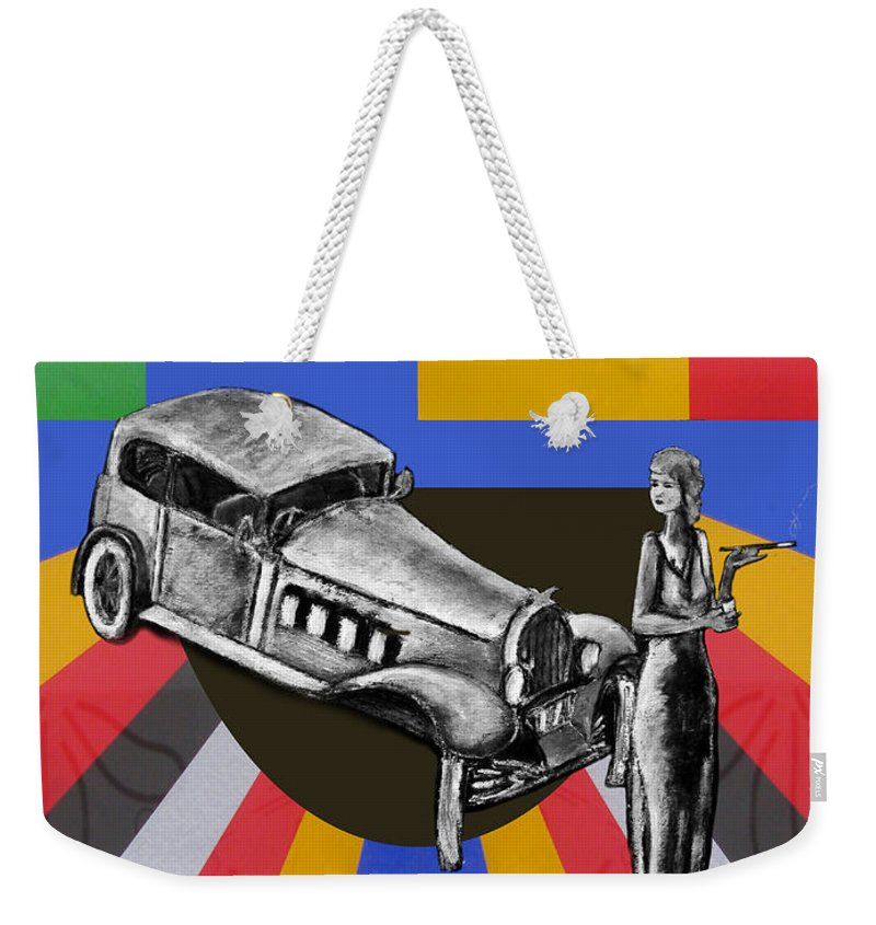 Vintage Weekender Tote Bag featuring the painting At The Rendezvous 3 by Tom Conway