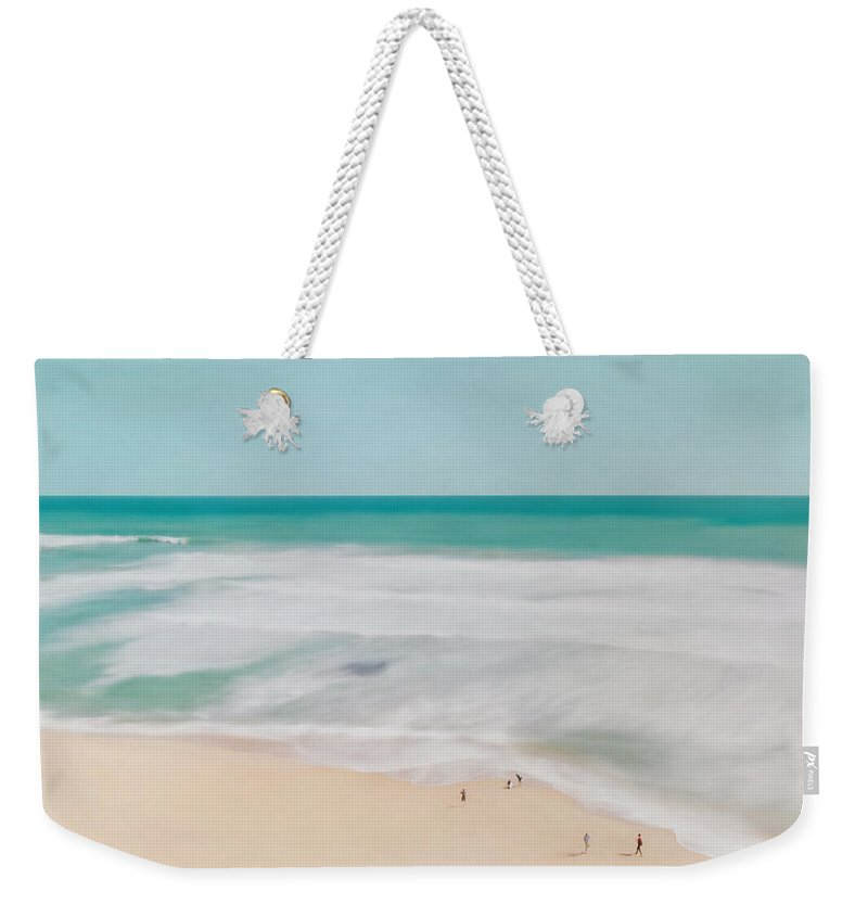 Coast Weekender Tote Bag featuring the digital art At The Shore, No.2 by Elegant and Coastal