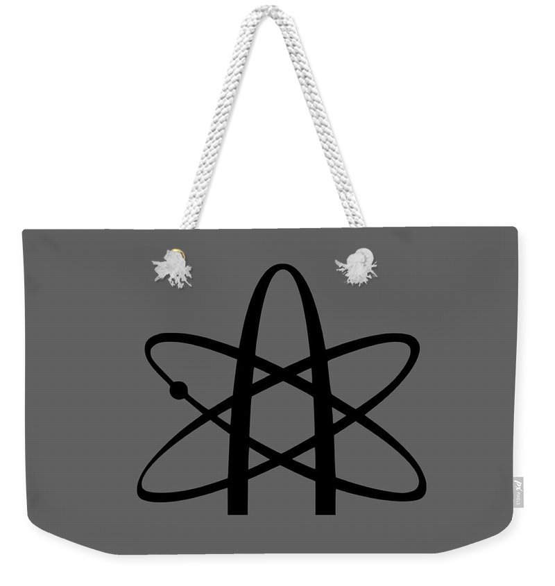 Religion Weekender Tote Bag featuring the digital art Atheism Symbol #2 by Frederick Holiday