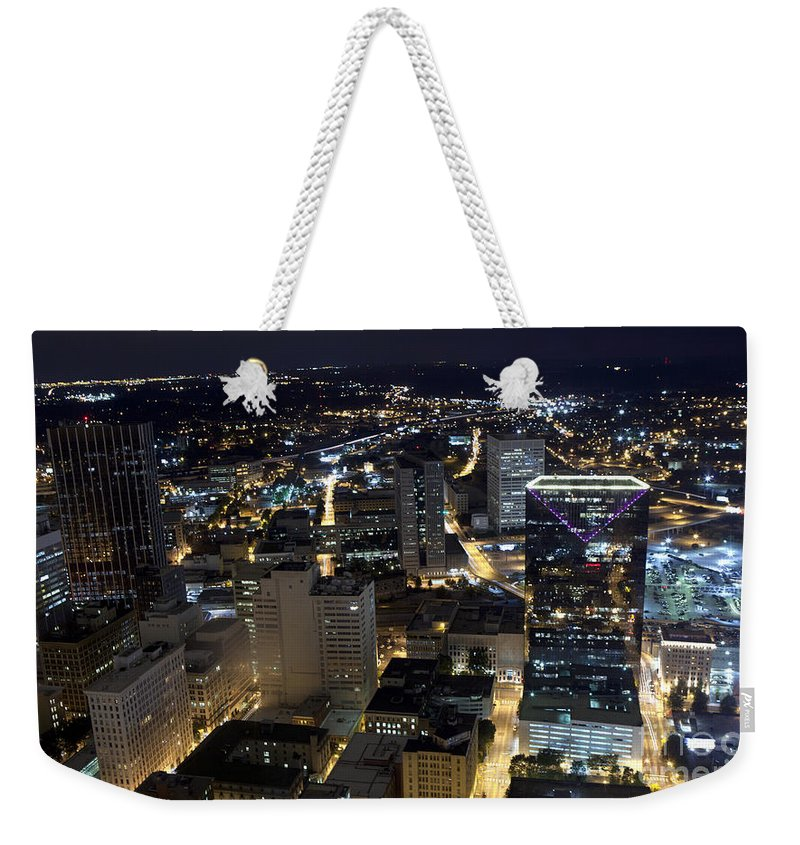 Skyline Weekender Tote Bag featuring the photograph Atlanta Georgia At Night by Anthony Totah
