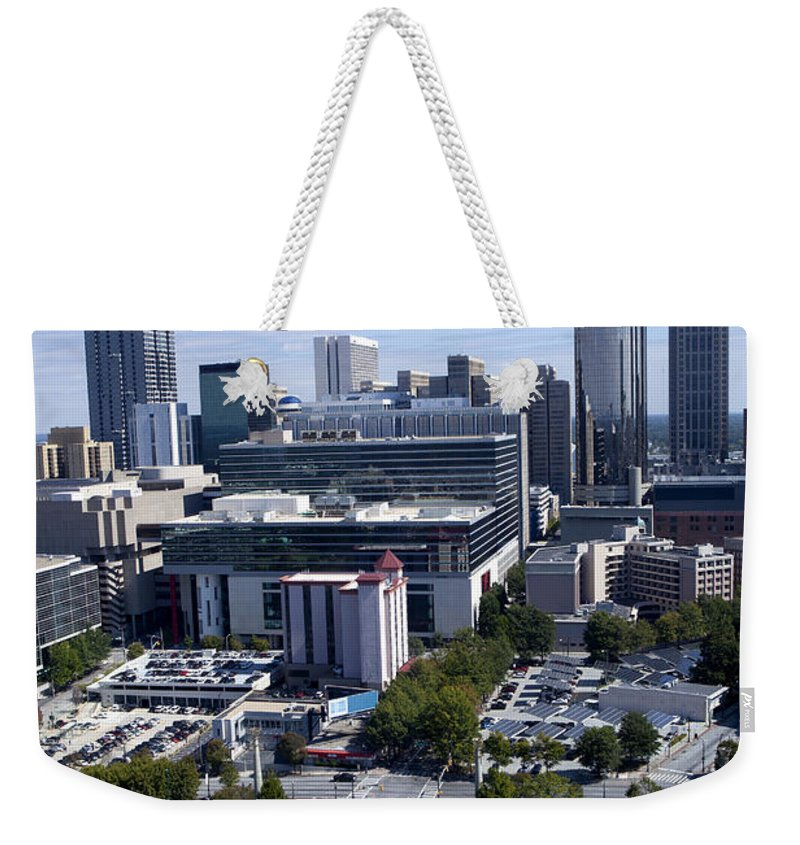 Skyline Weekender Tote Bag featuring the photograph Atlanta Georgia Skyline by Anthony Totah