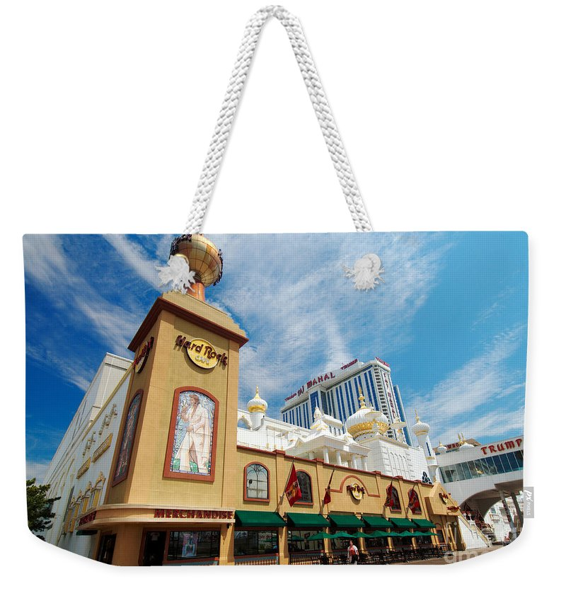 Boardwalk Weekender Tote Bag featuring the photograph Atlantic City by George Mattei