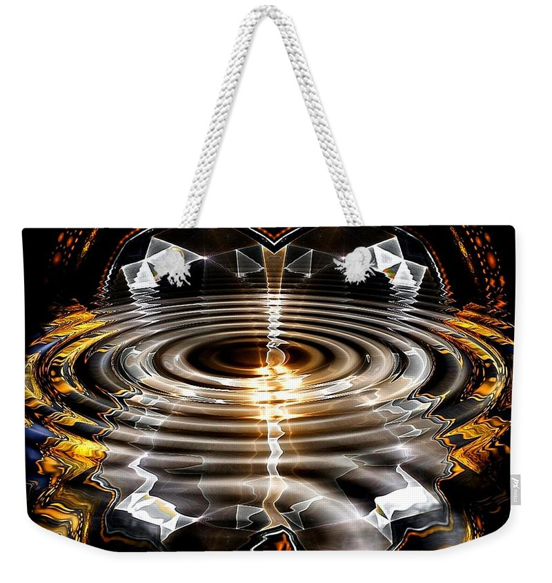Casino Weekender Tote Bag featuring the digital art Atlantic City by Robert Orinski