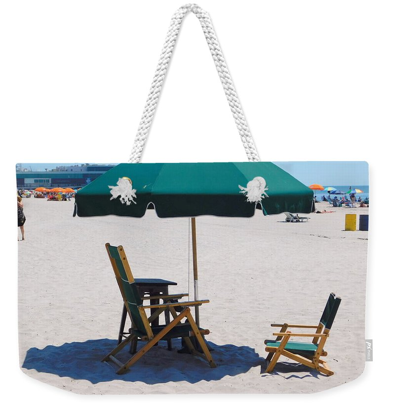 Beach Weekender Tote Bag featuring the photograph Atlantic City Series -10 by Arlane Crump